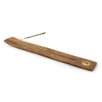 drewniana podstawka pod kadzidło jin jang1